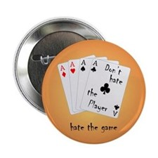 "Play with four Aces 2.25"" Button"