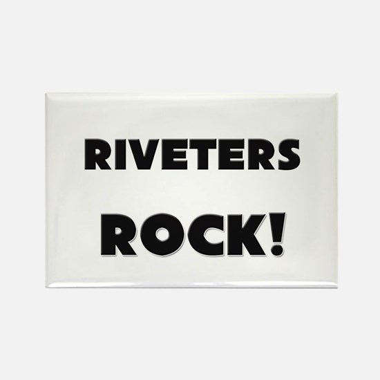Riveters ROCK Rectangle Magnet