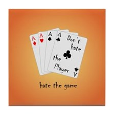 Play with four Aces Tile Coaster