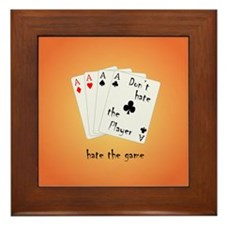 Play with four Aces Framed Tile
