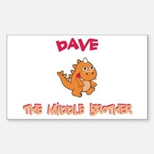 Dave - Middle Brother Rectangle Decal