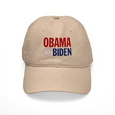 Obama-Biden Bold Type R/B Baseball Cap