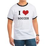 I Love Soccer Ringer T