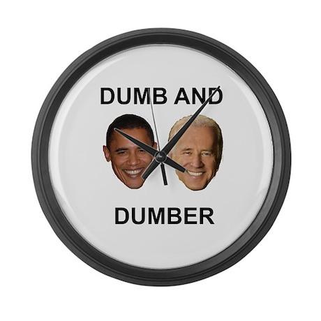 Obama and Biden Large Wall Clock