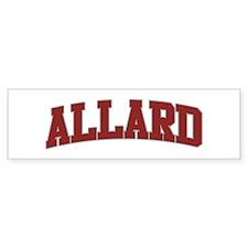 ALLARD Design Bumper Bumper Sticker