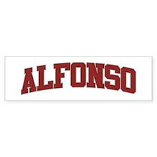 ALFONSO Design Bumper Bumper Sticker