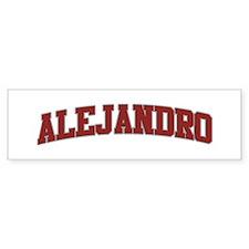 ALEJANDRO Design Bumper Bumper Sticker