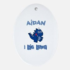 Aidan - Dino Big Brother Oval Ornament