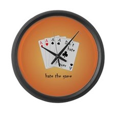 Play with four Aces Large Wall Clock