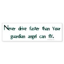 Guardian angel.. Bumper Car Sticker