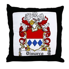 Dimarco Family Crest Throw Pillow