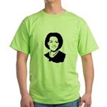 Michelle Obama screenprint Green T-Shirt