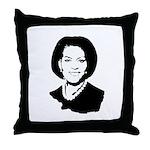 Michelle Obama screenprint Throw Pillow