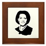 Michelle Obama screenprint Framed Tile