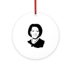 Michelle Obama screenprint Ornament (Round)