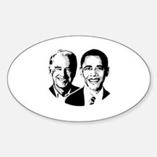 OBAMA BIDEN 2008 Oval Decal
