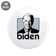 """OBAMA BIDEN 2008 3.5"""" Button (10 pack)"""