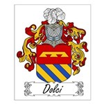 Dolci Family Crest Small Poster