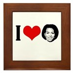 I Heart Michelle Obama Framed Tile
