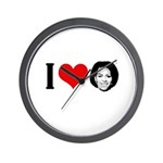 I Heart Michelle Obama Wall Clock