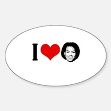 I Heart Michelle Obama Oval Decal