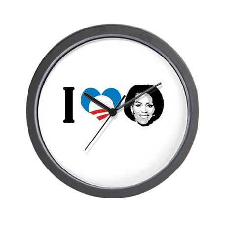 I Love Michelle Obama Wall Clock