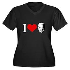 I Love Joe Biden Women's Plus Size V-Neck Dark T-S