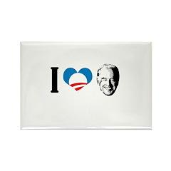 I Love Joe Biden Rectangle Magnet (100 pack)