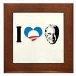 I Love Joe Biden Framed Tile