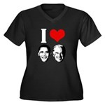 I Heart Obama Biden Women's Plus Size V-Neck Dark