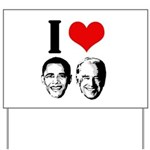 I Heart Obama Biden Yard Sign