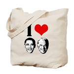 I Heart Obama Biden Tote Bag