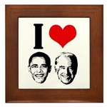 I Heart Obama Biden Framed Tile