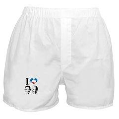I Love Obama Biden Boxer Shorts