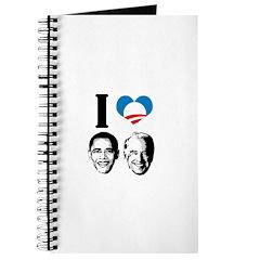 I Love Obama Biden Journal