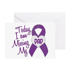 Missing My Dad 1 PURPLE Greeting Card