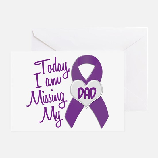 Missing My Dad 1 PURPLE Greeting Card