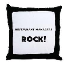Restaurant Managers ROCK Throw Pillow