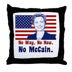 Hillary Clinton Throw Pillow