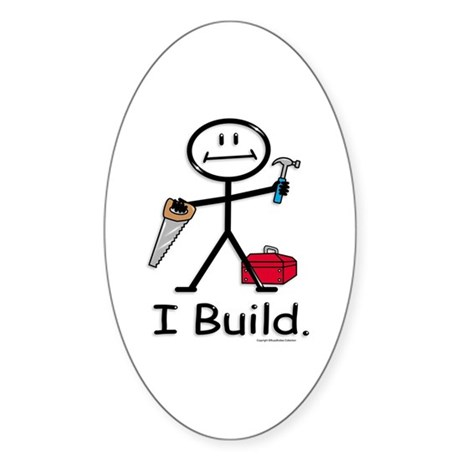BusyBodies Construction Oval Sticker