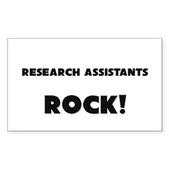 Research Assistants ROCK Rectangle Decal