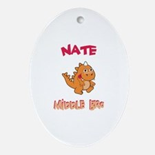 Nate - Middle Brother Oval Ornament