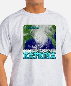 I Survived Hurricane Katrina T-Shirt (Grey)