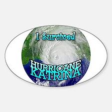 Hurricane Katrina Oval Decal