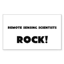 Remote Sensing Scientists ROCK Rectangle Decal
