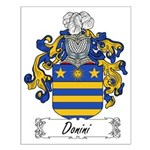 Donini Family Crest Small Poster