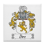 Doro Family Crest Tile Coaster