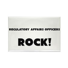 Regulatory Affairs Officers ROCK Rectangle Magnet