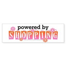 Powered By Shopping Bumper Sticker