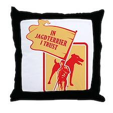 Jagdterrier Throw Pillow